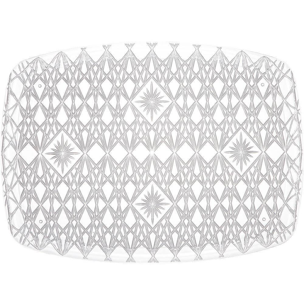 CLEAR Plastic Crystal Cut Rectangular Platter Image #1
