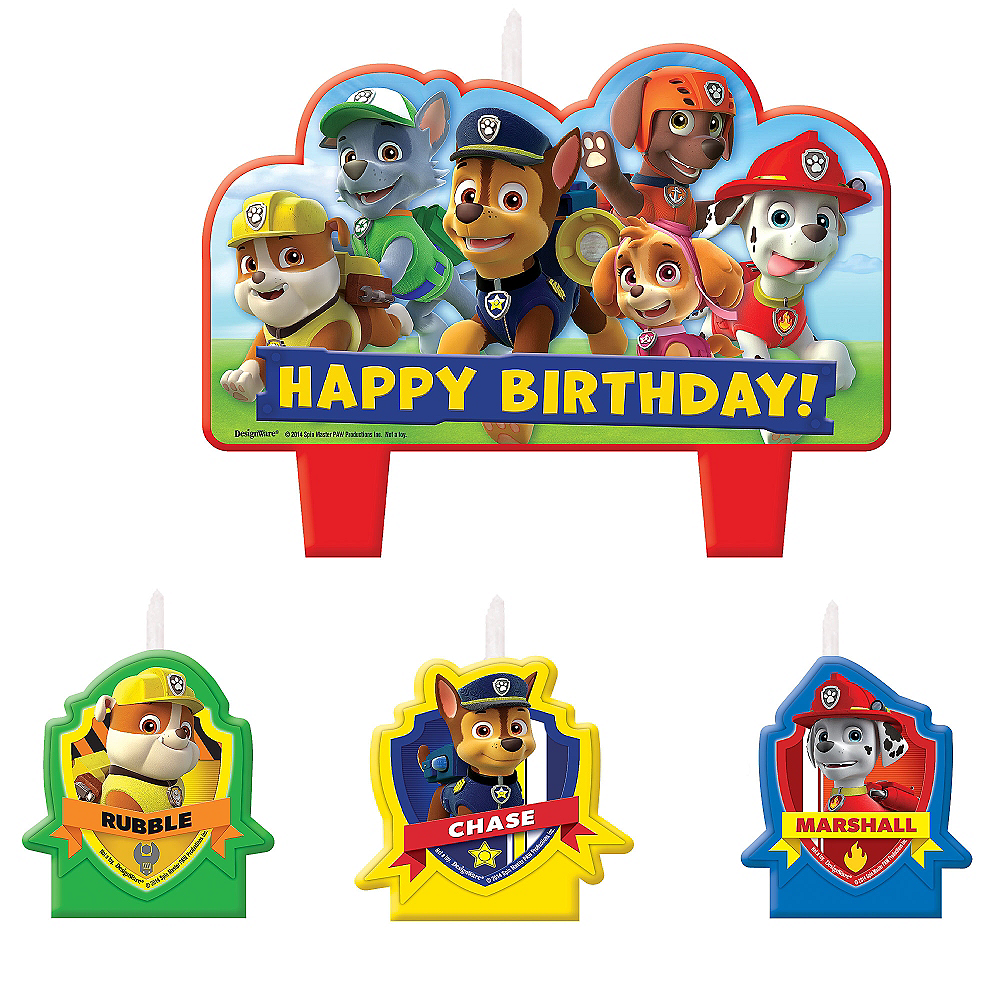 PAW Patrol Birthday Candles 4ct Image #1