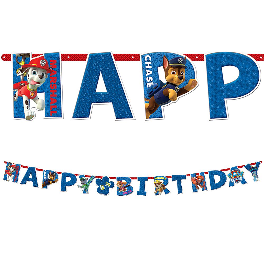 paw patrol birthday banner 10 1 2ft x 10in party city