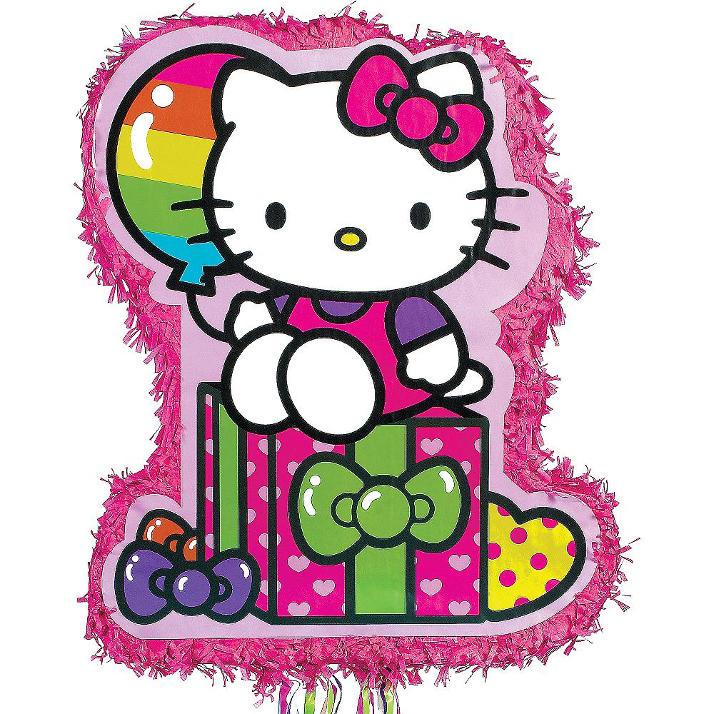 Pull String Rainbow Hello Kitty Pinata Image #1