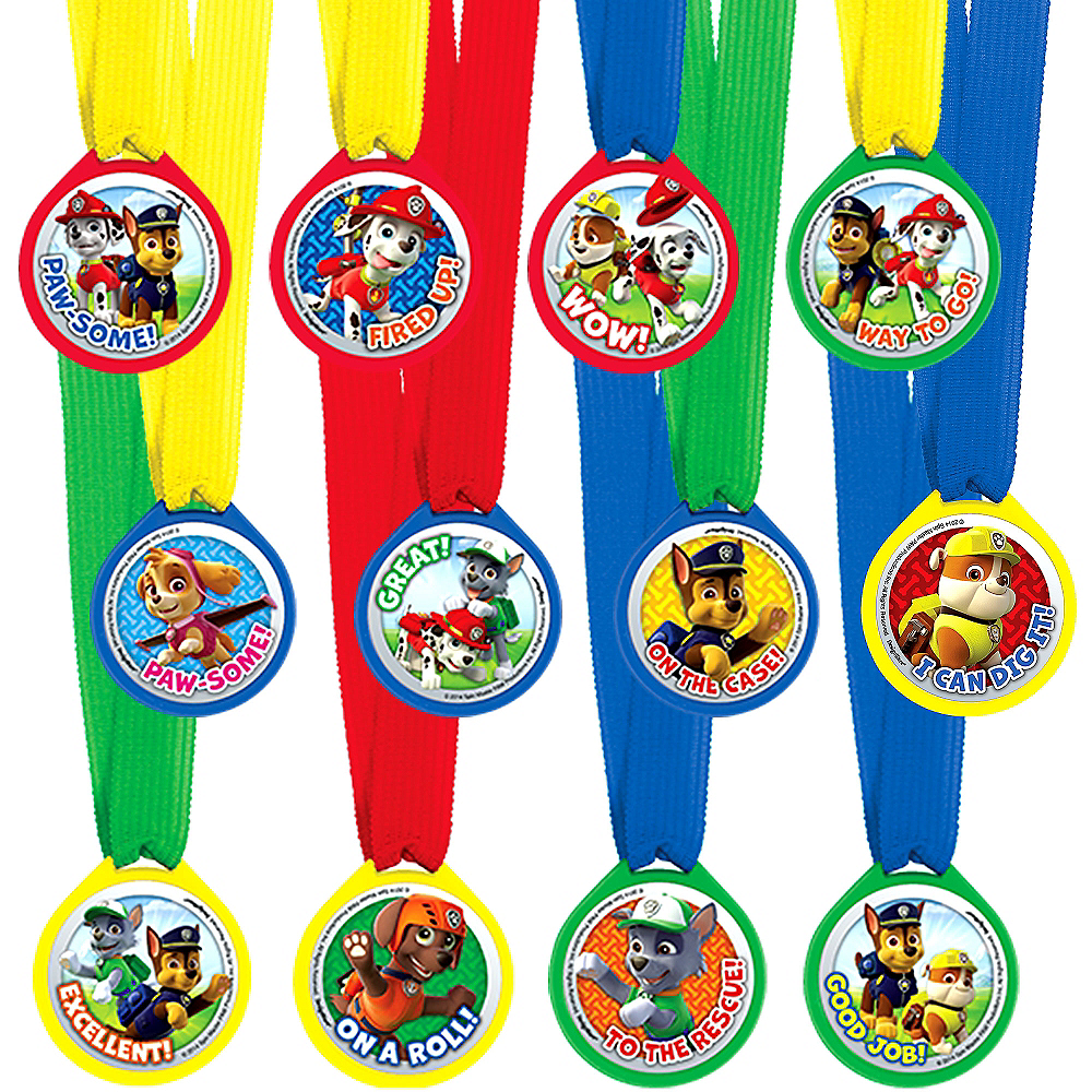 Nav Item for PAW Patrol Award Medals 12ct Image #1