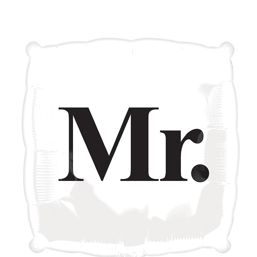 Black & White Mr. Wedding Balloon, 18in Image #1