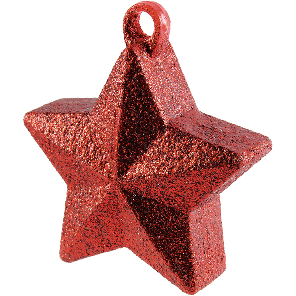 Glitter Red Star Balloon Weight Image #1