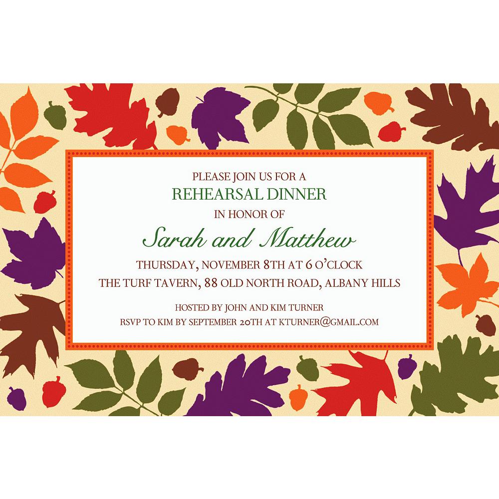 Custom Autumn Warmth Invitations Image #1