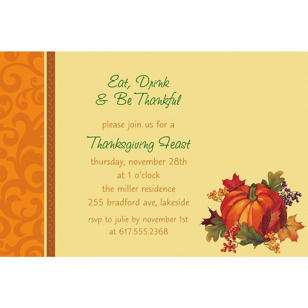 Custom Bountiful Holiday Invitations Image #1