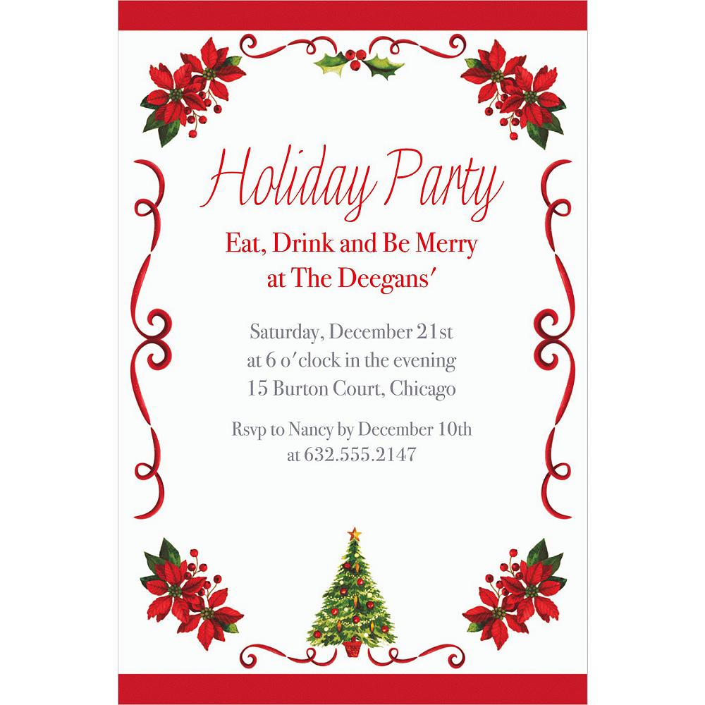Custom Traditional Christmas Invitations Image #1