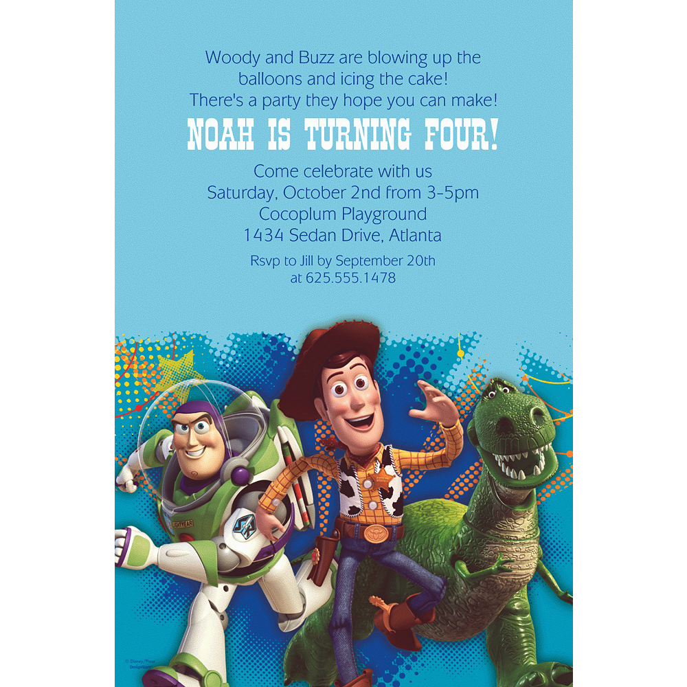 Custom Toy Story Power Up Invitations Image #1