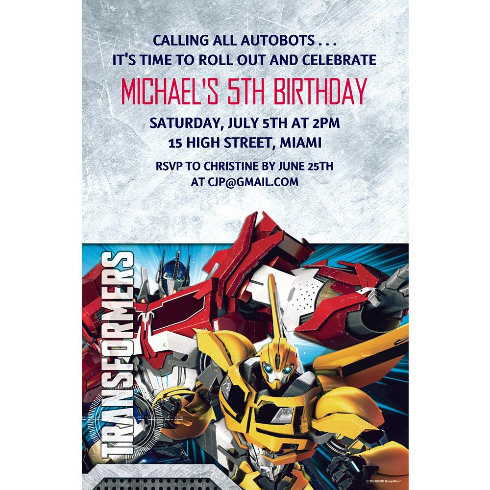 Custom Transformers Invitations Image #1