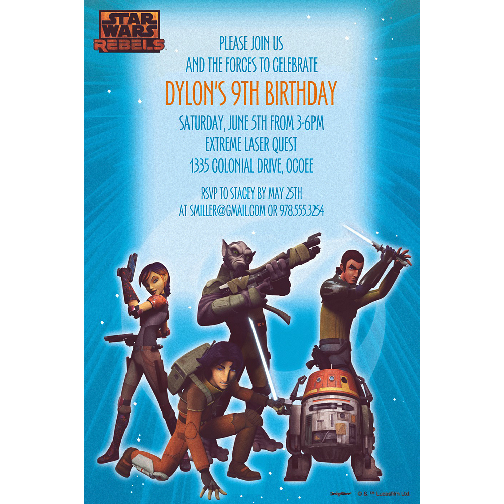 Custom Star Wars Rebels Invitations Party City