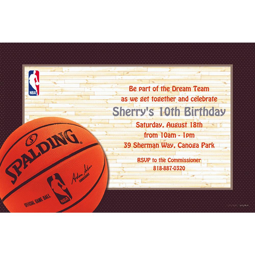 Custom NBA Spalding Invitations Image #1