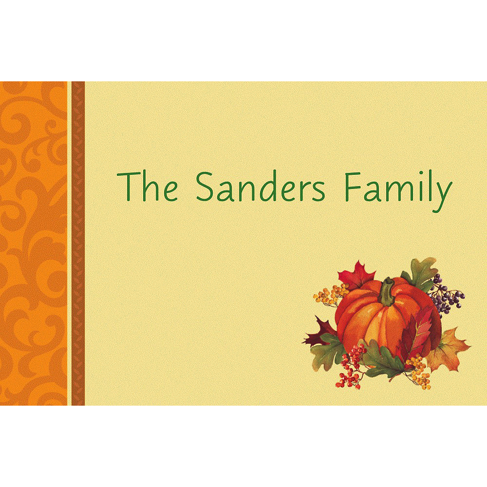 Custom Bountiful Holiday Thank You Notes Image #1