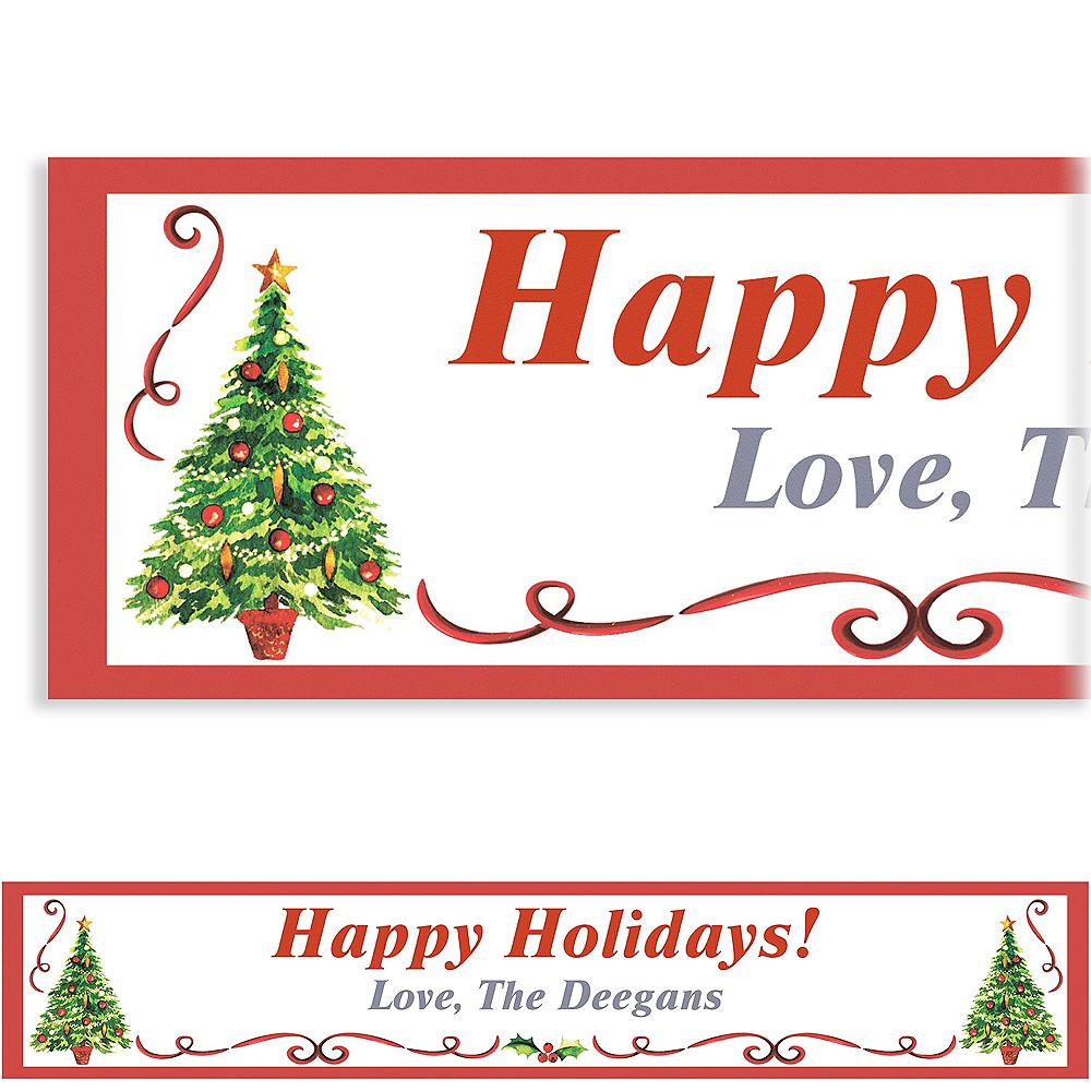 Custom Traditional Christmas Banner 6ft Image #1