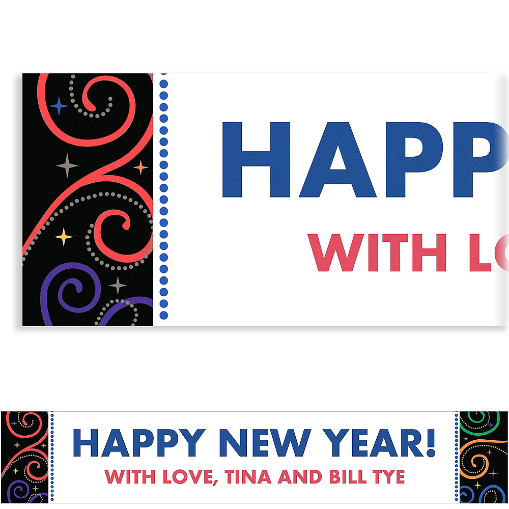 Custom Cheers to a New Year Banner 6ft Image #1