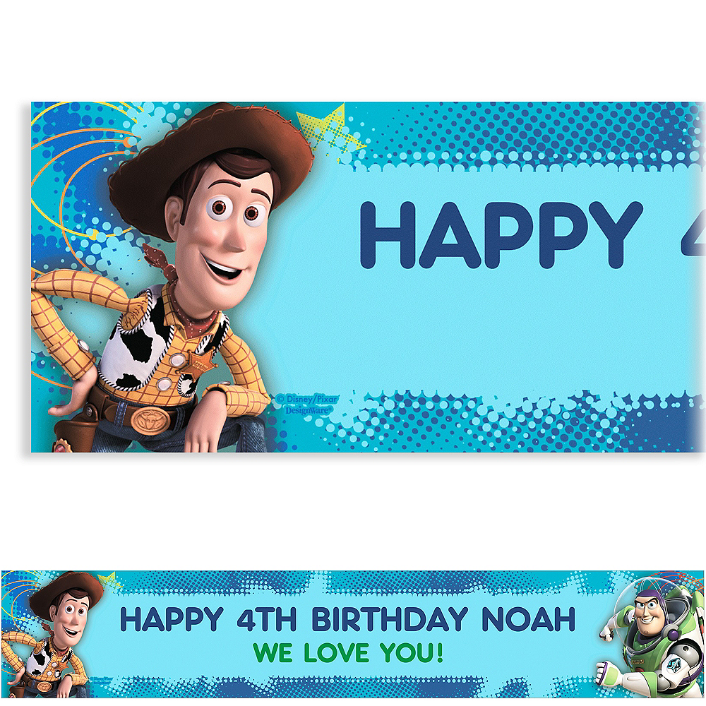 Custom Toy Story Power Up Banner 6ft Image #1