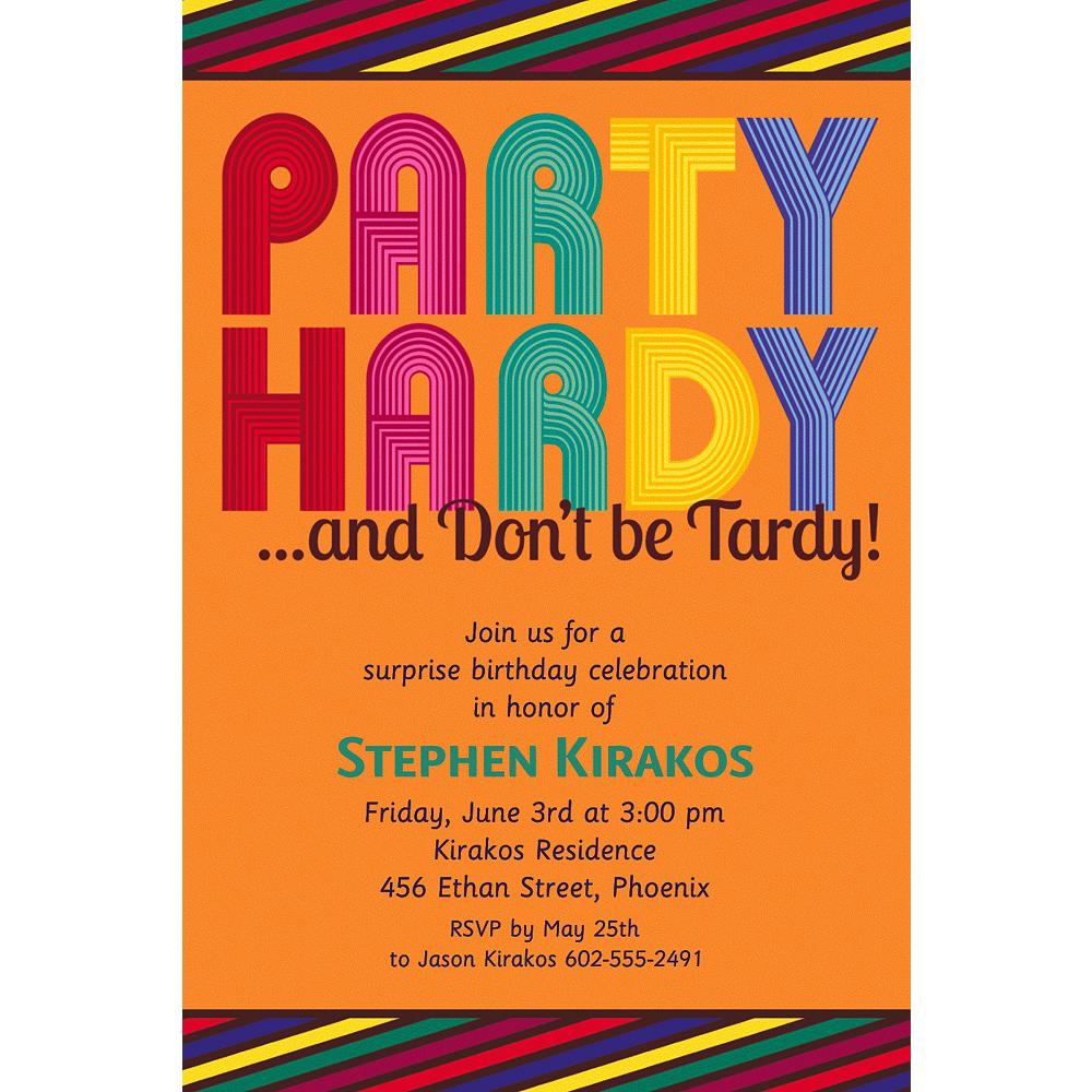 Custom Party Hardy Surprise Invitations Image #1