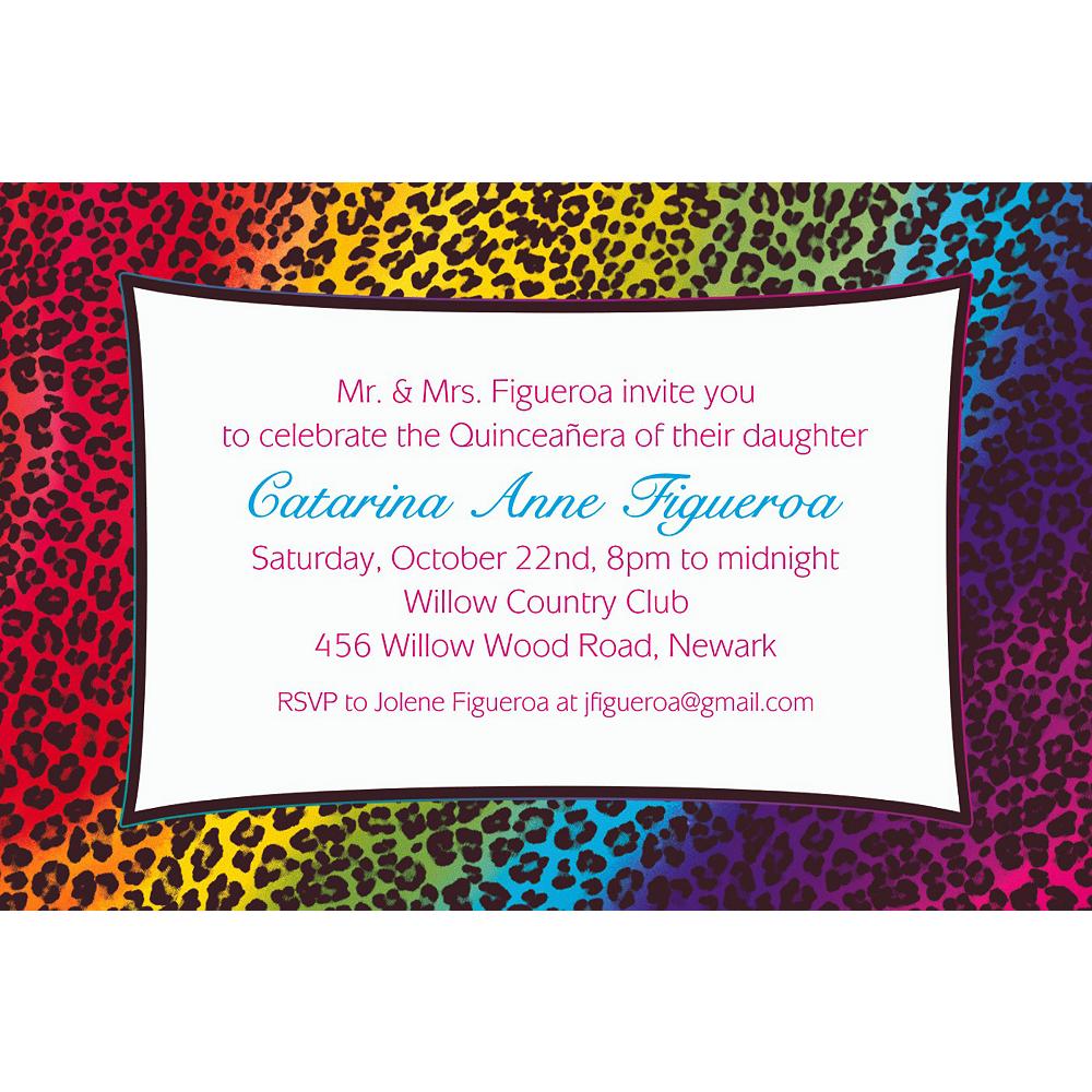 Custom Wild Leopard Invitations Image #1