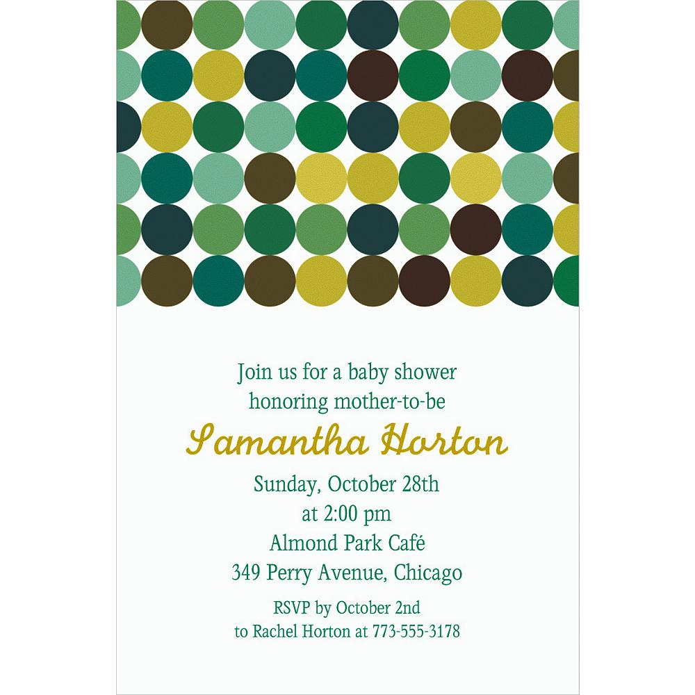 Custom Dotty Cool Invitations Image #1