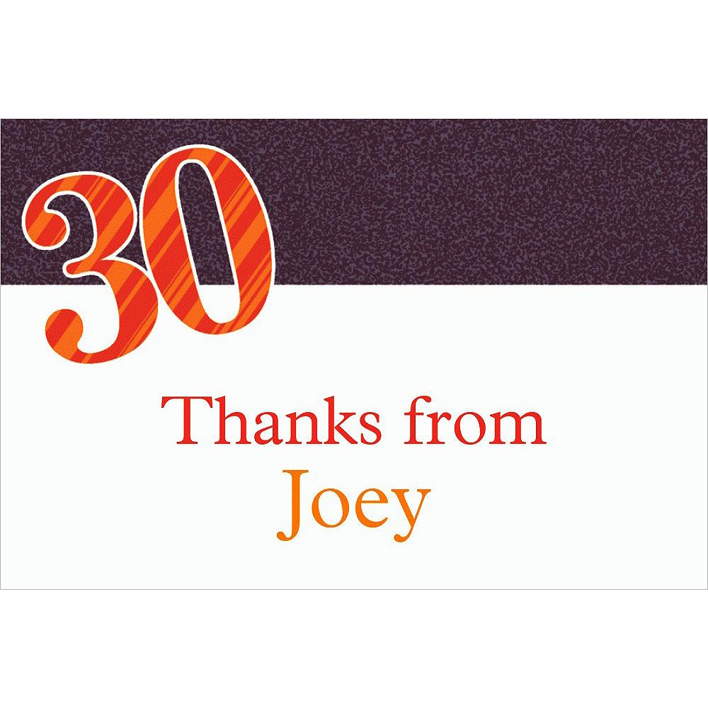 Custom Big Celebration 30 Thank You Notes Image #1
