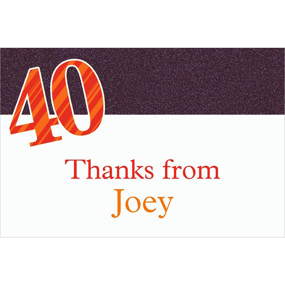 Custom Big Celebration 40 Thank You Notes Image #1