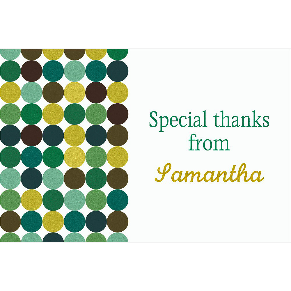 Custom Dotty Cool Thank You Notes  Image #1