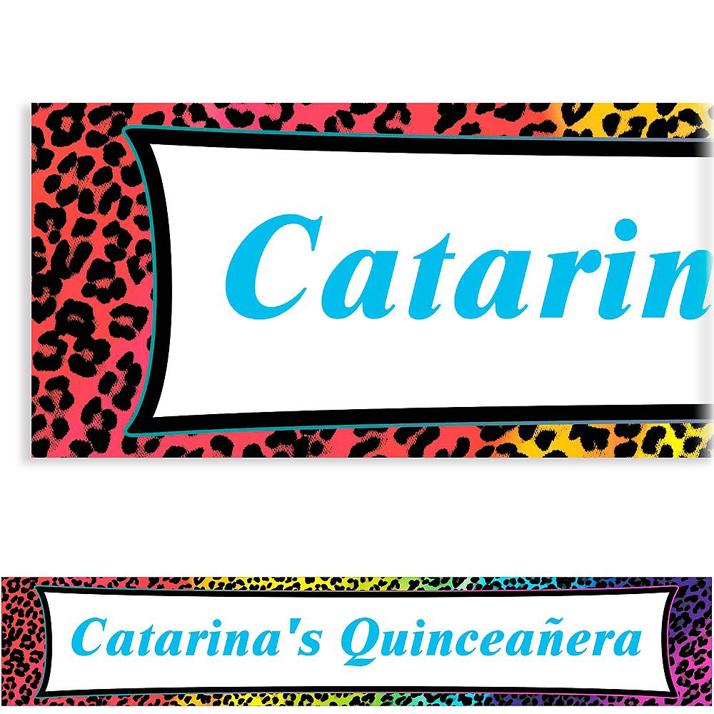 Custom Wild Leopard Banner 6ft Image #1