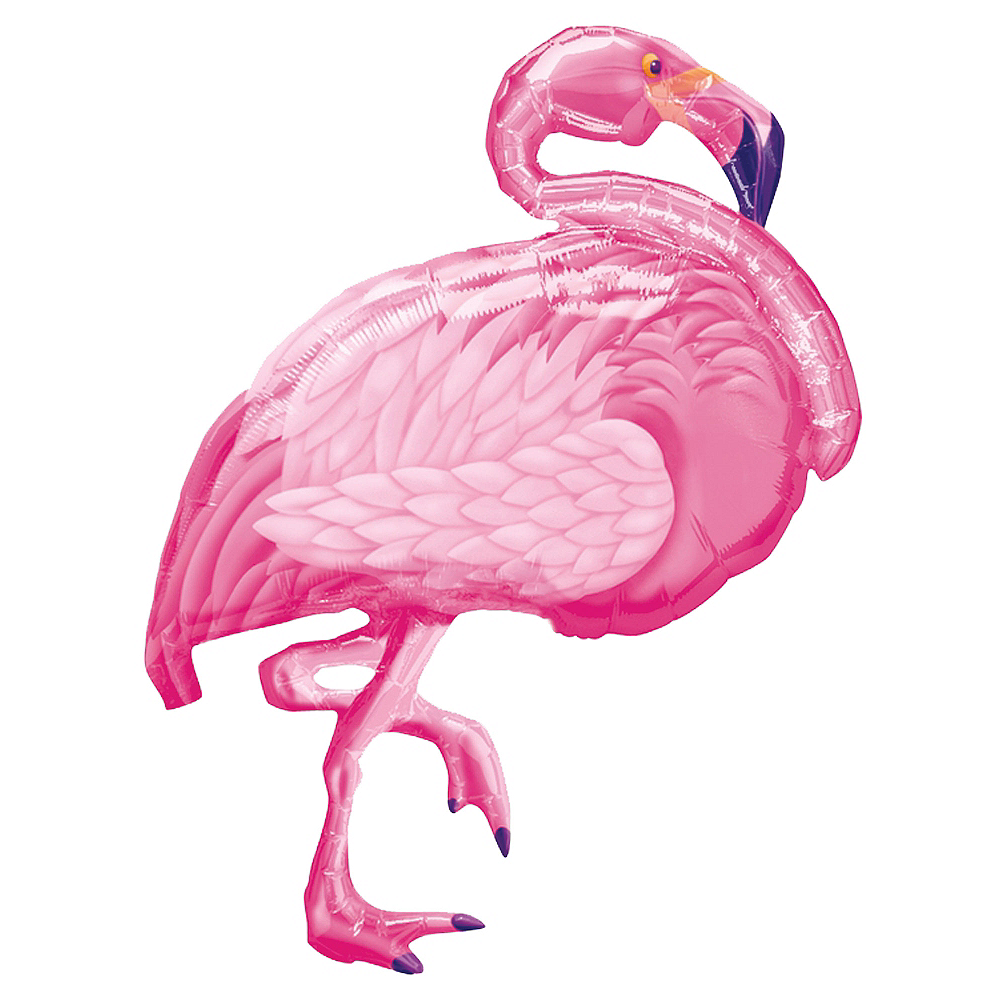 Foil Pink Flamingo Balloon, 35in Image #1
