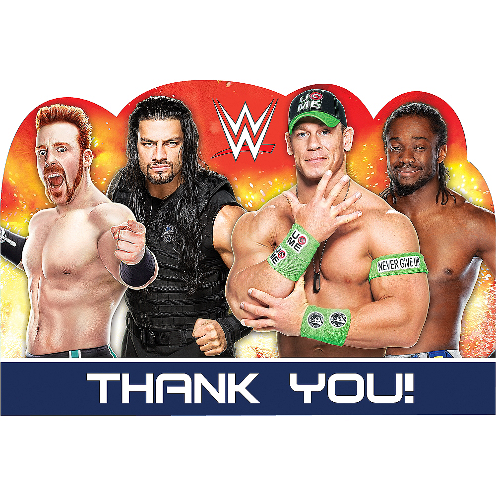 WWE Thank You Notes 8ct Image #1