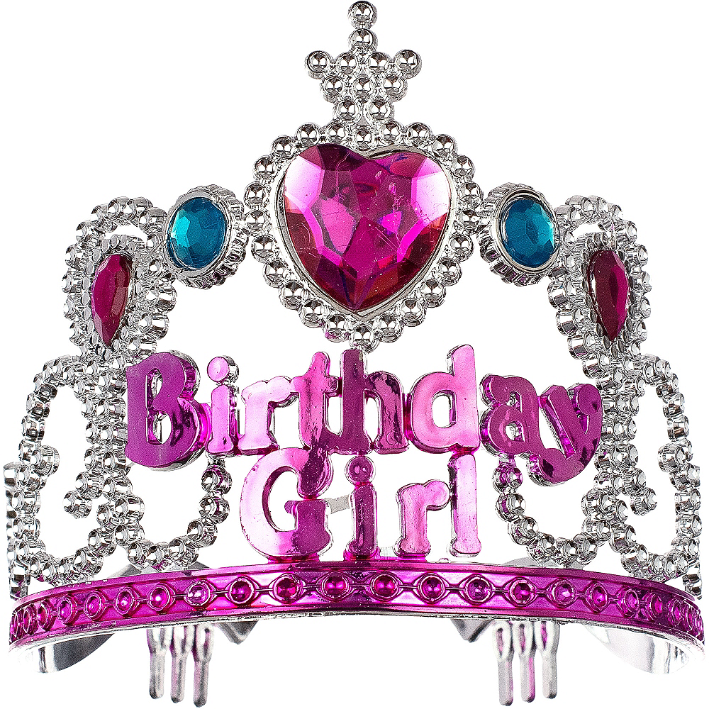 Child Pink Birthday Girl Tiara Image #1