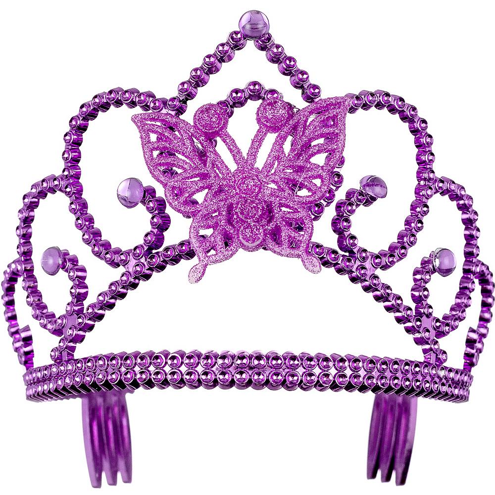 Purple Butterfly Tiara Image #1