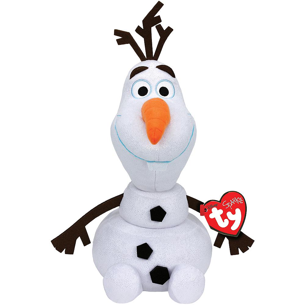 Sparkle Olaf Beanie Babies Plush - Frozen Image #1