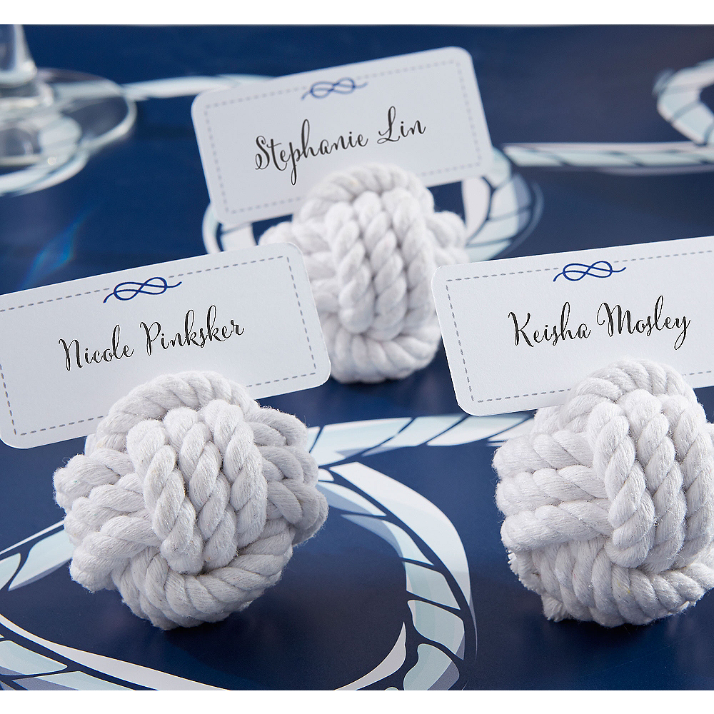 Nautical Rope Knot Place Card Holders Image #1