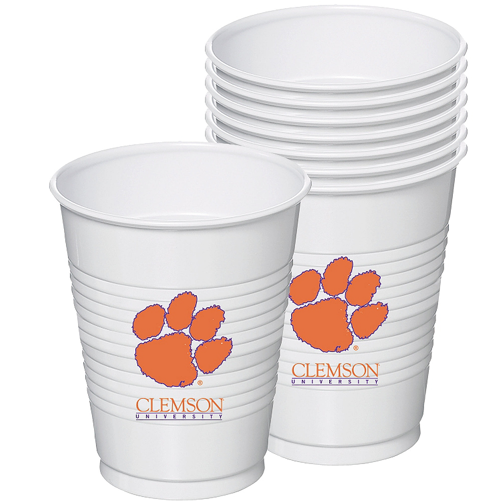 Nav Item for Clemson Tigers Plastic Cups 8ct Image #1