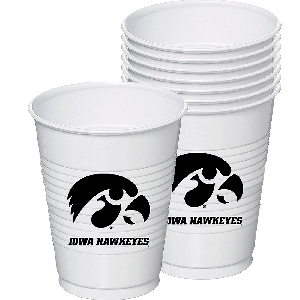 Nav Item for Iowa Hawkeyes Plastic Cups 8ct Image #1
