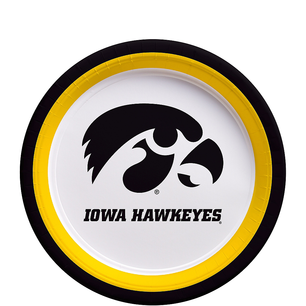Nav Item for Iowa Hawkeyes Dessert Plates 12ct Image #1