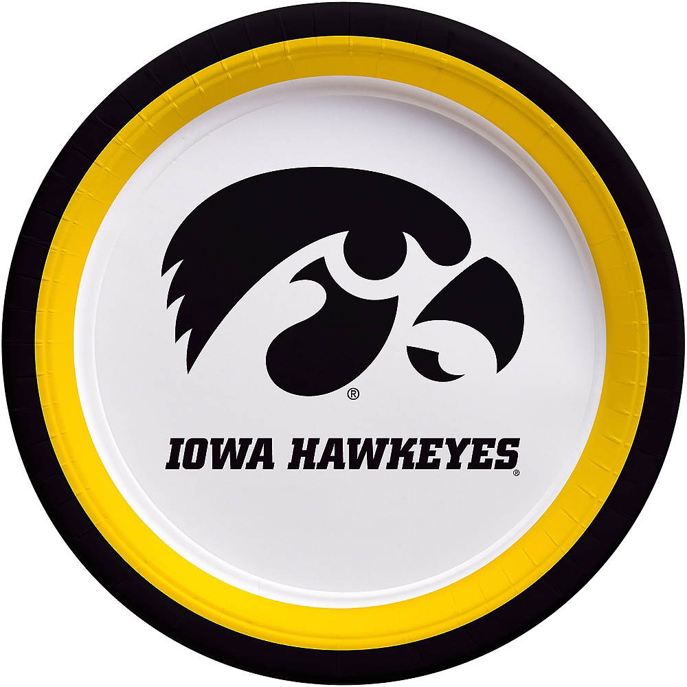 Iowa Hawkeyes Lunch Plates 10ct Image #1