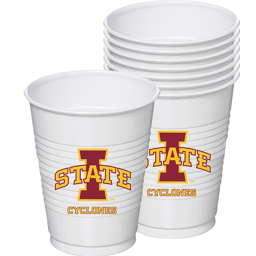 Iowa State Cyclones Plastic Cups 8ct Image #1