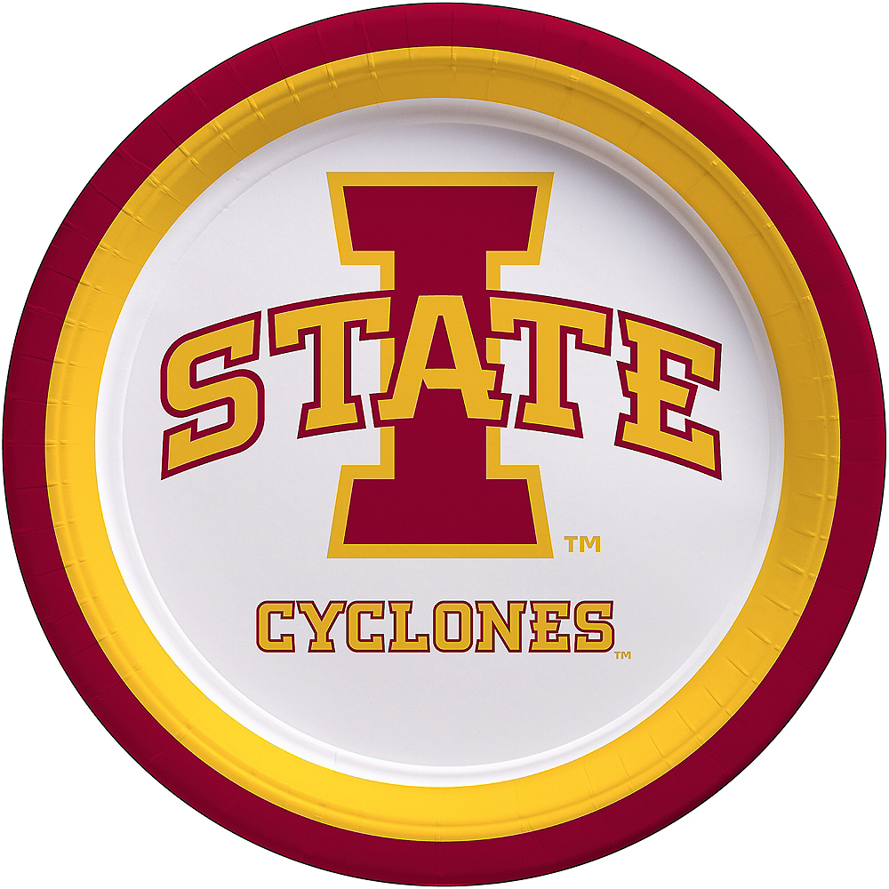 Iowa State Cyclones Lunch Plates 10ct Image #1