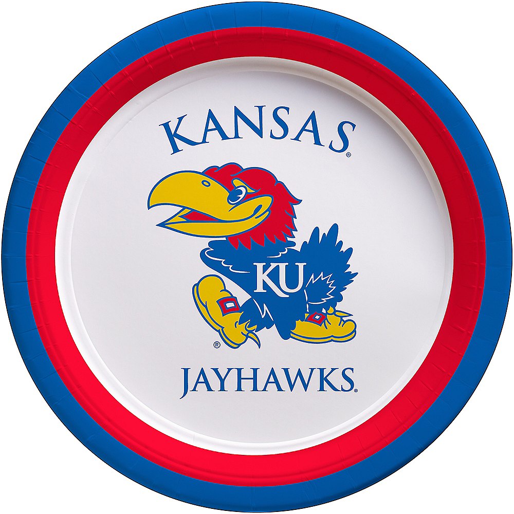 Kansas Jayhawks Lunch Plates 10ct Image #1