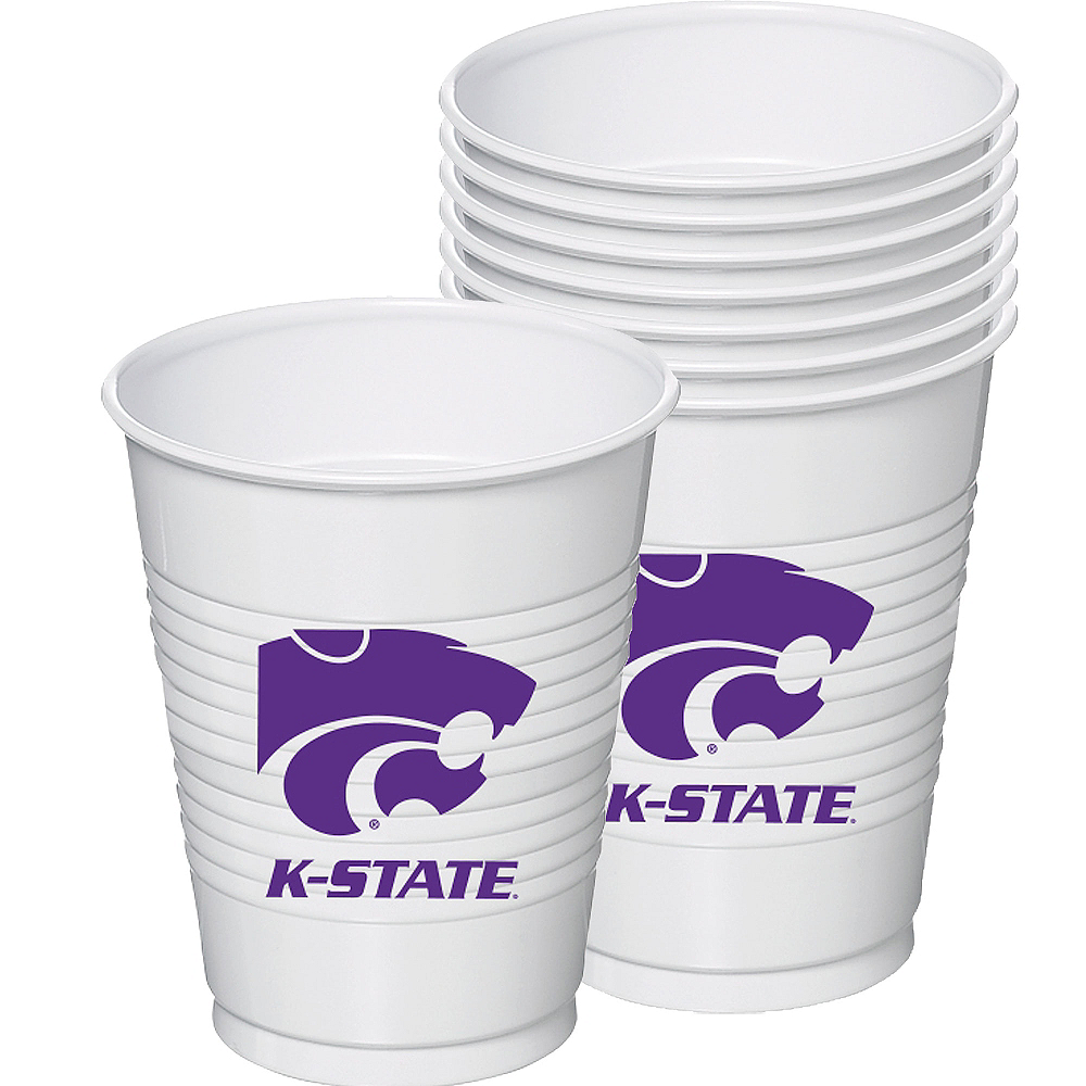 Kansas State Wildcats Plastic Cups 8ct Image #1