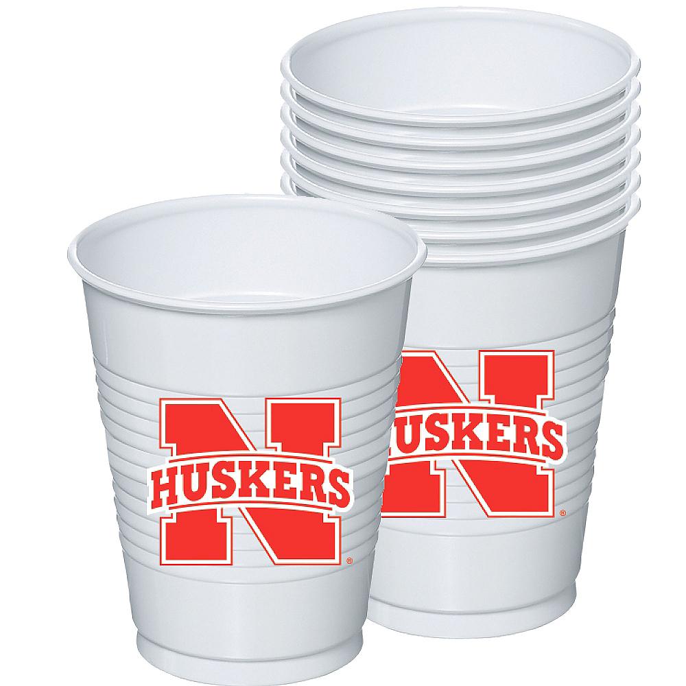 Nebraska Cornhuskers Plastic Cups 8ct Image #1