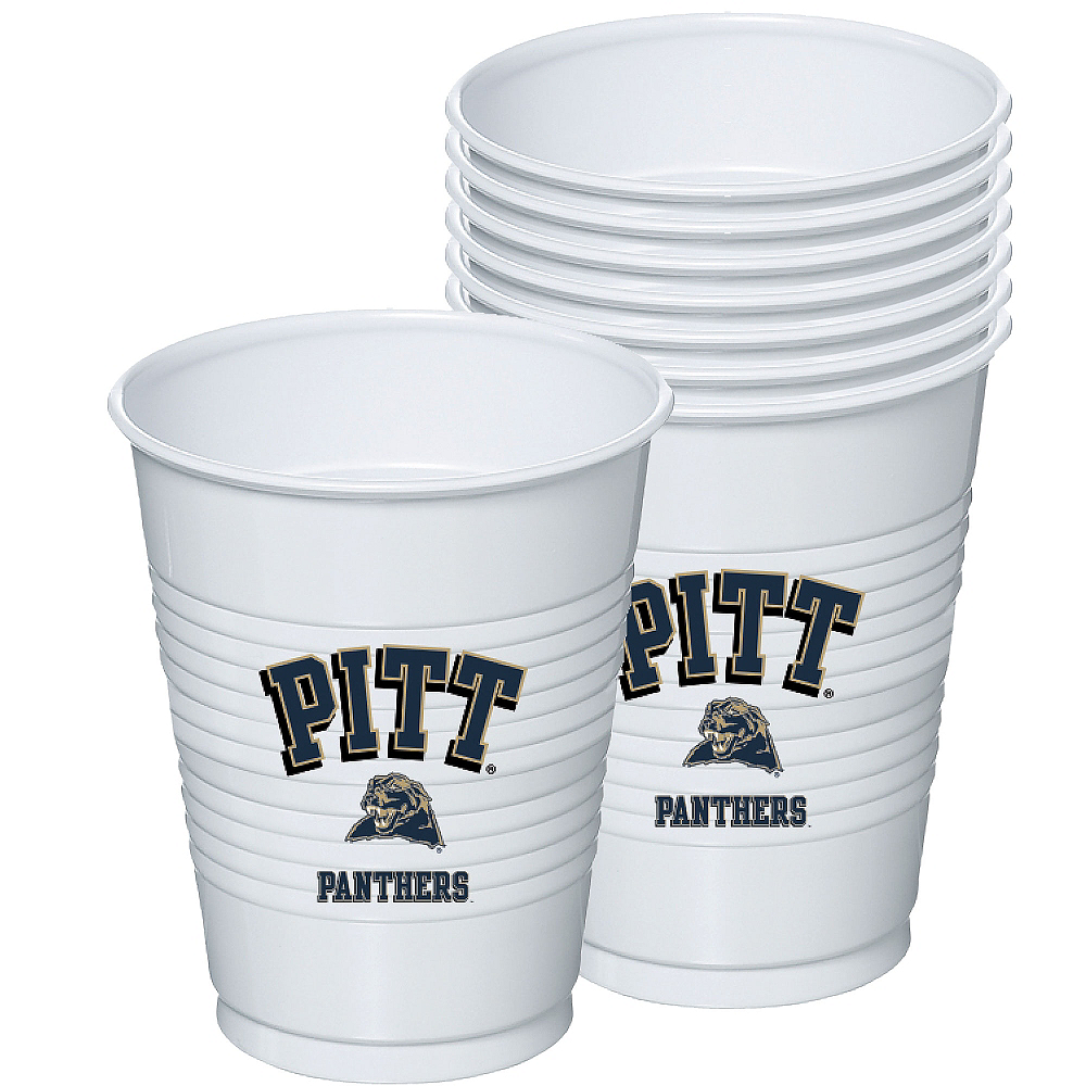 Nav Item for Pittsburgh Panthers Plastic Cups 8ct Image #1