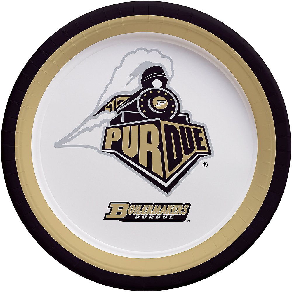 Purdue Boilermakers Lunch Plates 10ct Image #1