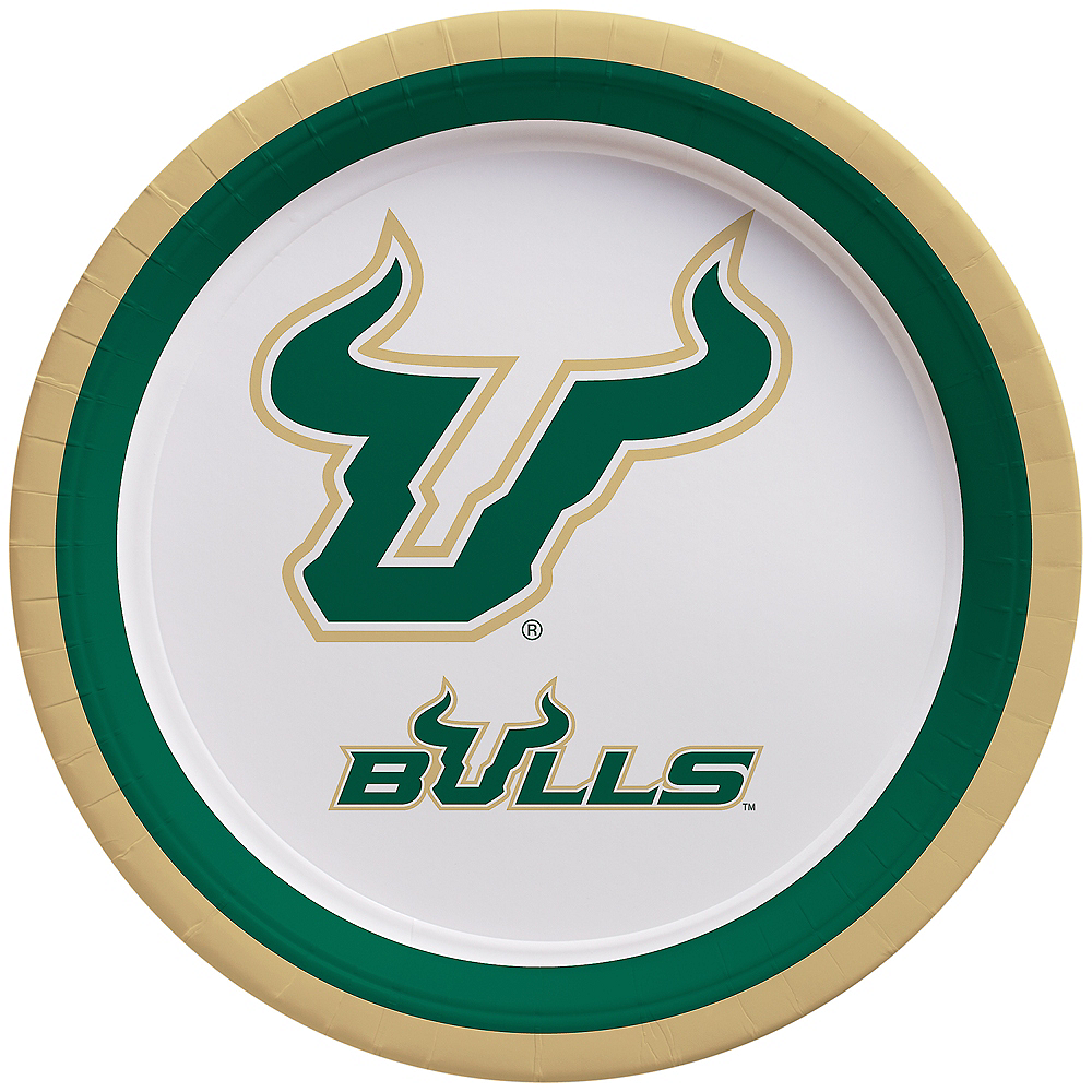 South Florida Bulls Lunch Plates 10ct Image #1
