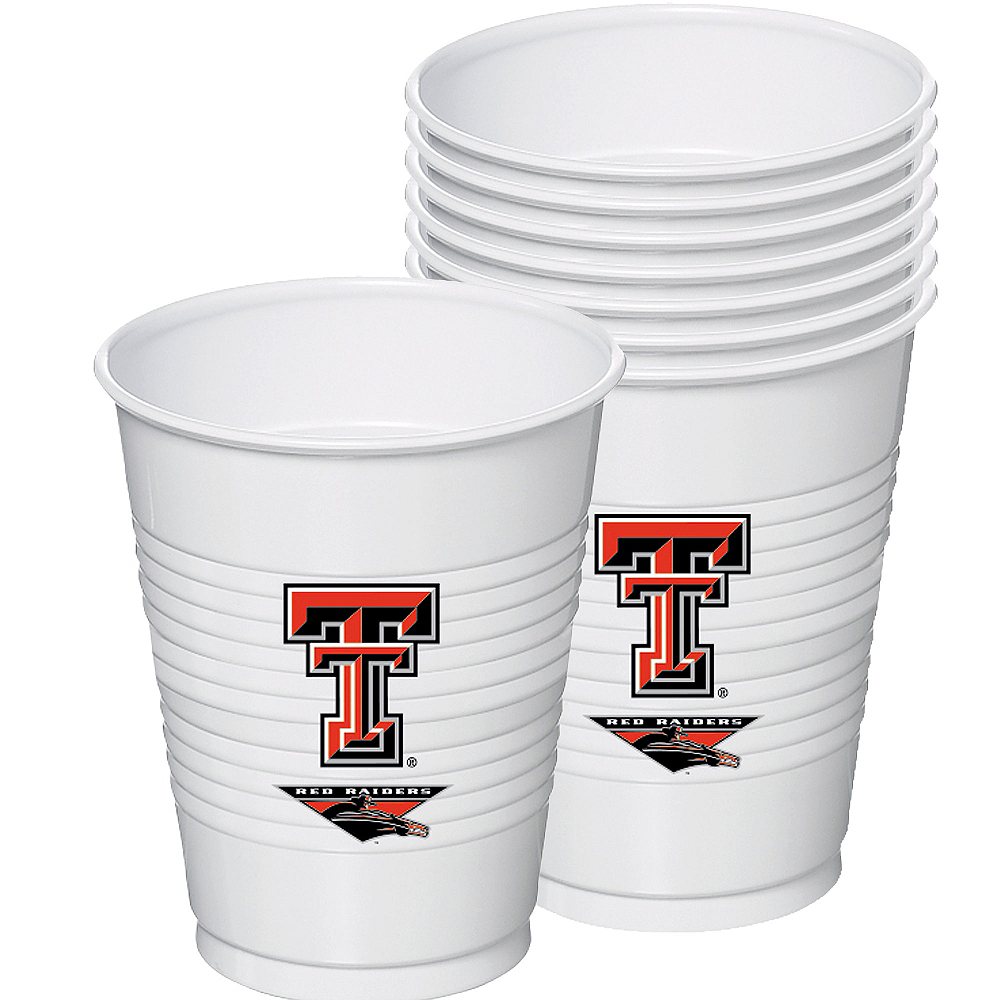 Texas Tech Red Raiders Plastic Cups 8ct Image #1