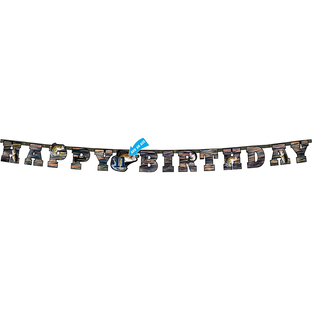 Gone Fishing Happy Birthday Letter Banner Image #1