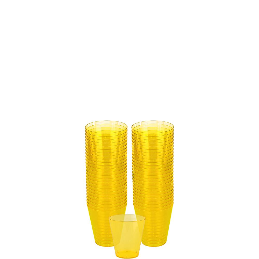 Big Party Pack Sunshine Yellow Plastic Shot Glasses 100ct Image #1