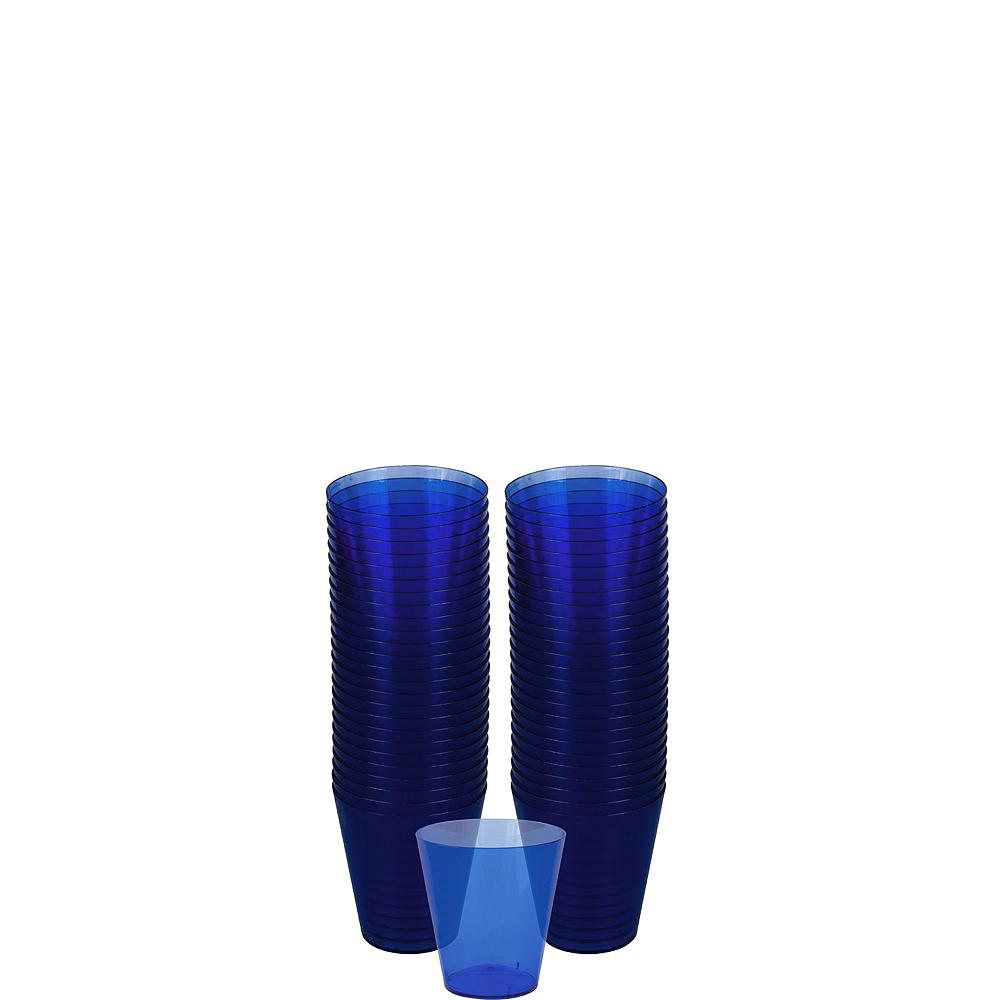 Big Party Pack Royal Blue Plastic Shot Glasses 100ct Image #1