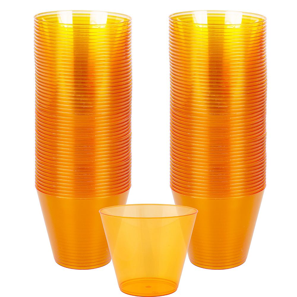 Big Party Pack Orange Plastic Cups 72ct Image #1