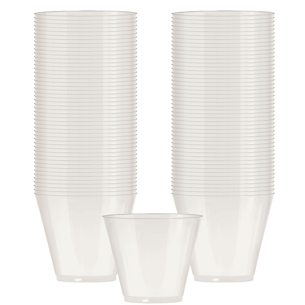 Big Party Pack Pearl White Plastic Cups 72ct Image #1
