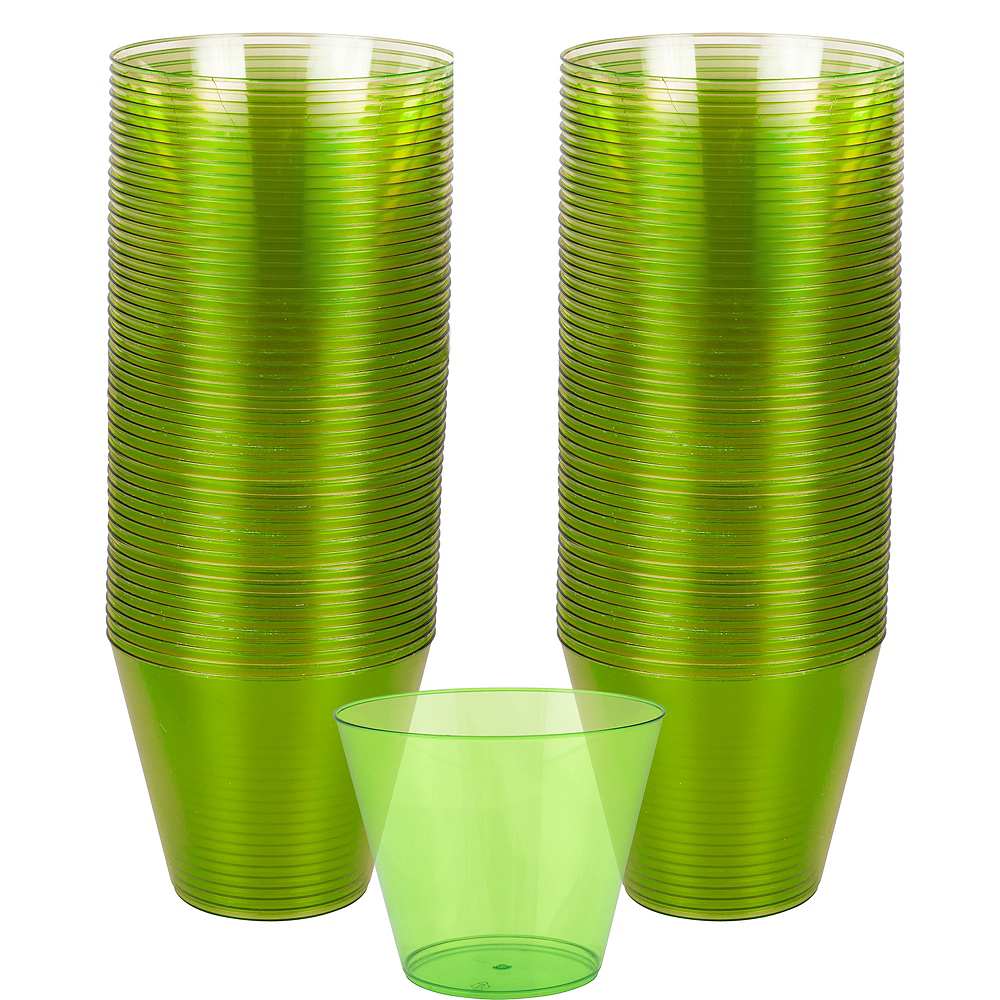 Big Party Pack Kiwi Green Plastic Cups 72ct Image #1